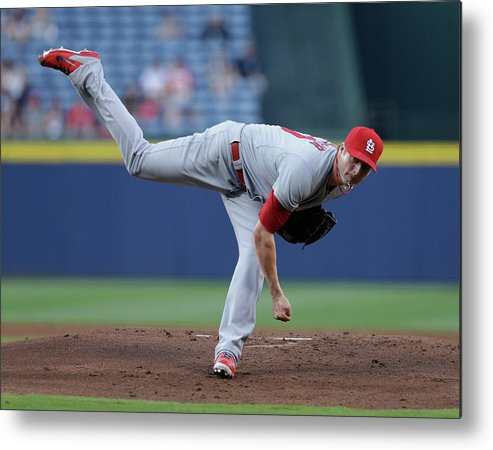 Atlanta Metal Print featuring the photograph Shelby Miller by Mike Zarrilli