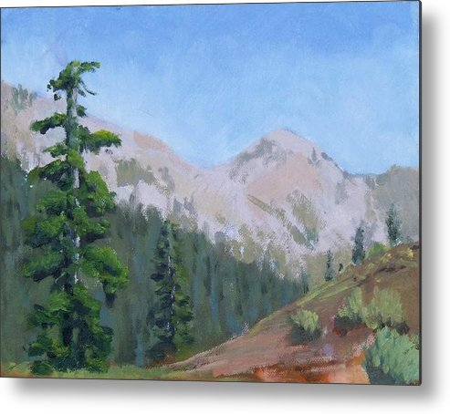 Metal Print featuring the painting Sky Peak  Stevens Pass WA by Raymond Kaler