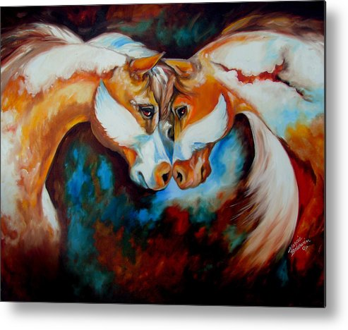 Horse Metal Print featuring the painting Spirit Eagle 2007 by Marcia Baldwin