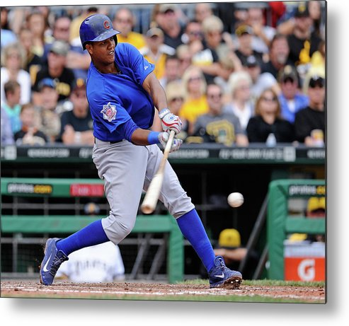 Pnc Park Metal Print featuring the photograph Starlin Castro by Joe Sargent