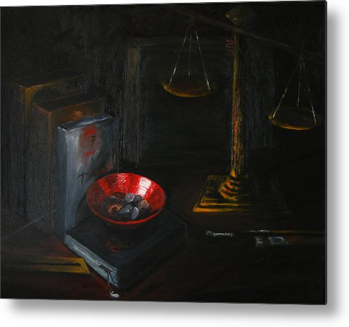 Art Metal Print featuring the painting Symbols Of Life by Patricia Awapara