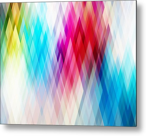 Art Metal Print featuring the drawing Vector Abstract Futuristic Background by Carduus