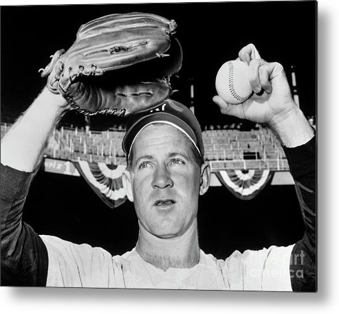 American League Baseball Metal Print featuring the photograph Whitey Ford by National Baseball Hall Of Fame Library