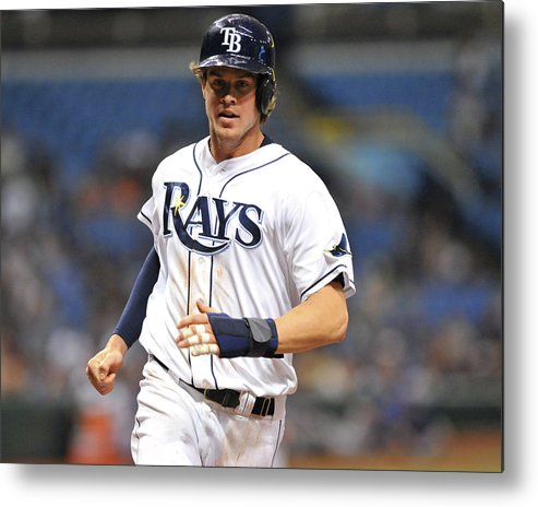 American League Baseball Metal Print featuring the photograph Wil Myers by Al Messerschmidt
