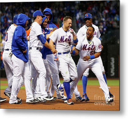 Yoenis Cespedes Metal Print featuring the photograph Yoenis Cespedes and David Wright by Elsa