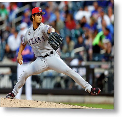 American League Baseball Metal Print featuring the photograph Yu Darvish by Rich Schultz