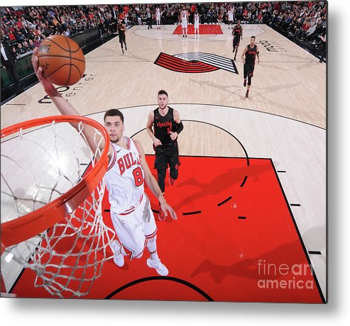 Chicago Bulls Metal Print featuring the photograph Zach Lavine by Sam Forencich