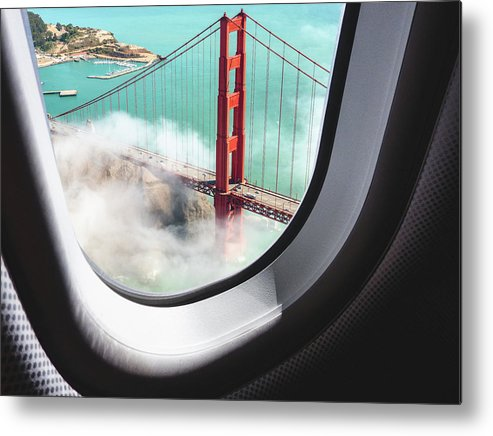 Scenics Metal Print featuring the photograph Aerial View Of San Francisco Golden by Franckreporter
