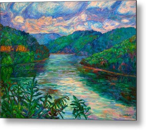 Lake Metal Print featuring the painting Bluestone Lake by Kendall Kessler