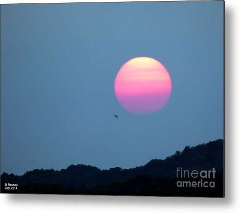 Landscape Metal Print featuring the photograph Delta Lake Sunset by Rennae Christman