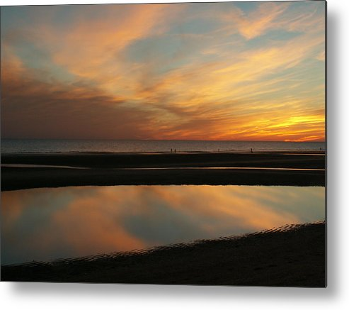 Landscape Metal Print featuring the photograph Sunset on the sea of Cortez by Darla Joy Johnson