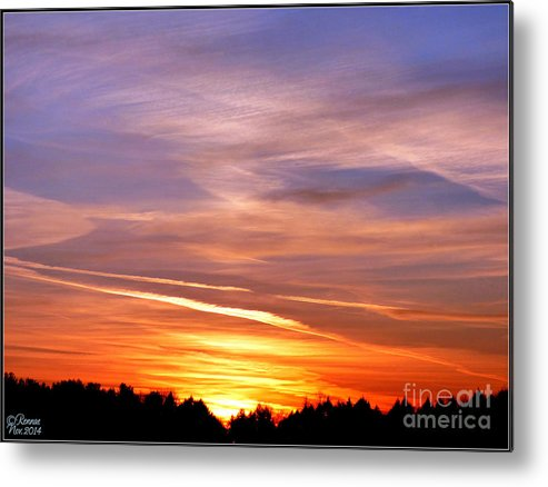 Sunset Metal Print featuring the photograph Sunset by Rennae Christman