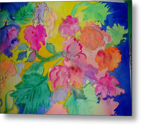 Bright Metal Print featuring the painting Fiesta by Phoenix Simpson
