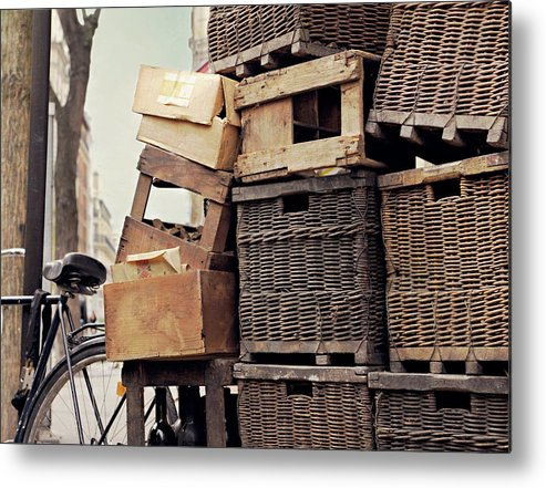 Outdoors Metal Print featuring the photograph Baskets In Paris by Sharon Lapkin