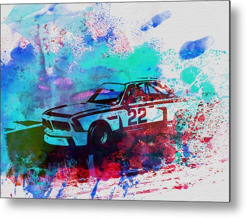 Bmw Racing Classic Bmw Metal Print featuring the painting Bmw 3.0 Csl by Naxart Studio