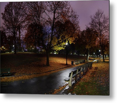 Tranquility Metal Print featuring the photograph Boston Common Park by By Yuri Kriventsov