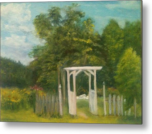 Sheila Mashaw Metal Print featuring the painting Butterfly Garden by Sheila Mashaw