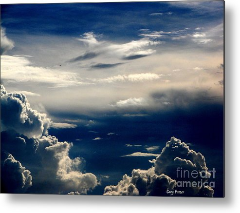 Art For The Wall...patzer Photography Metal Print featuring the photograph Deep Blue by Greg Patzer