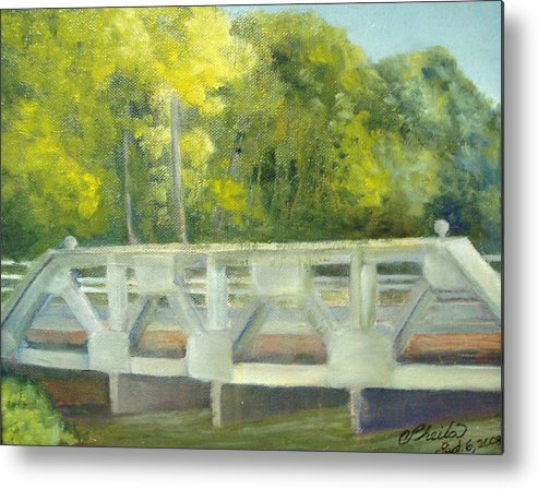 Smithville Park Metal Print featuring the painting Do You Paint Fish? by Sheila Mashaw