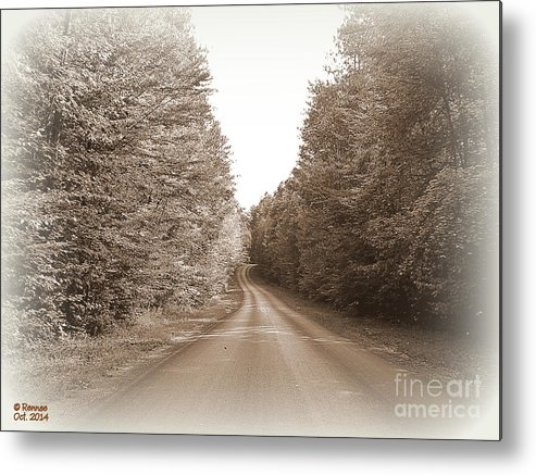 Landscape Metal Print featuring the photograph Down The Road by Rennae Christman