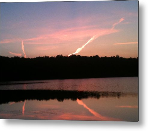 Dusk Metal Print featuring the photograph Dusk in the Poconos by Sheila Mashaw