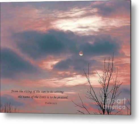 Praise Metal Print featuring the photograph Evening Praise by Ann Horn