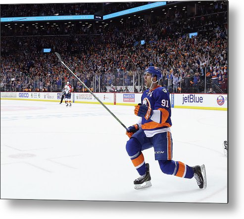 Playoffs Metal Print featuring the photograph Florida Panthers V New York Islanders - by Bruce Bennett