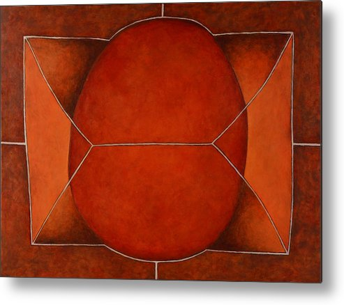 Abstract Art Metal Print featuring the painting Held In 2 by David Douthat