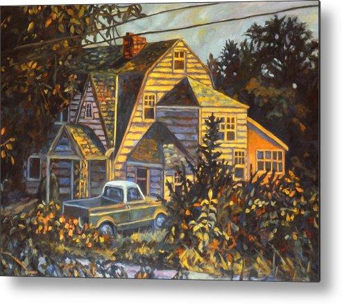 Kendall Kessler Metal Print featuring the painting House in Christiansburg by Kendall Kessler