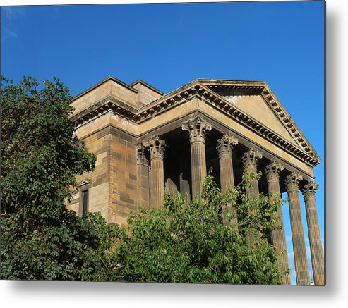 Wellington Church - Glasgow/scotland Metal Print featuring the photograph imposing and enigmatic structure II by Baato