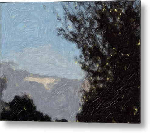 Landscape Metal Print featuring the painting Landscape of Fall by Sergey Bezhinets