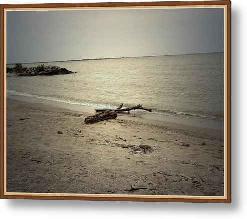 Sea Metal Print featuring the photograph Lonely Seashore by Anandi Godse