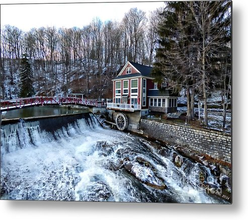 Landscape Metal Print featuring the photograph Marcellus Falls llll by Rennae Christman