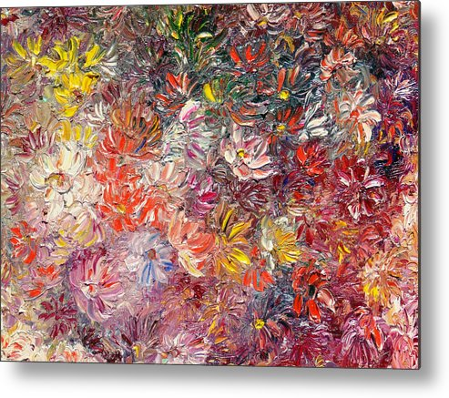 Abstract Metal Print featuring the painting My Pretty Pallet by Karin Dawn Kelshall- Best