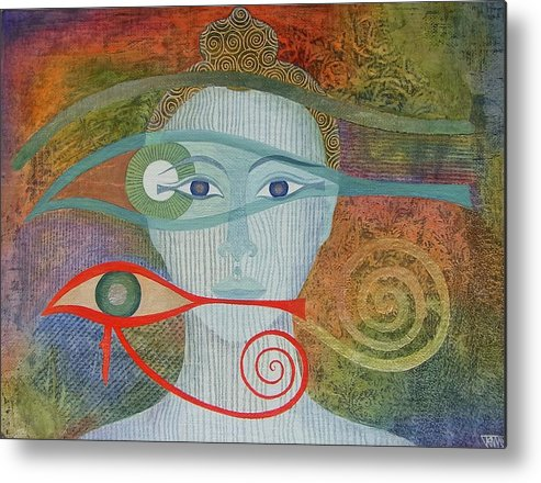 Buddha Metal Print featuring the painting Naked Awareness by Jennifer Baird