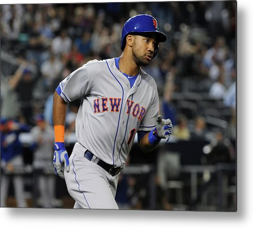 American League Baseball Metal Print featuring the photograph New York Mets V New York Yankees by Christopher Pasatieri