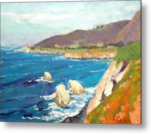 Metal Print featuring the painting Pacific Coast by Raymond Kaler