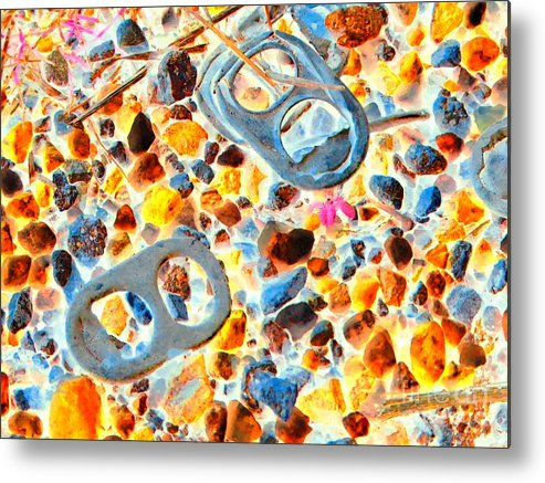 Abstract Metal Print featuring the photograph Pop Art b16 by Rrrose Pix