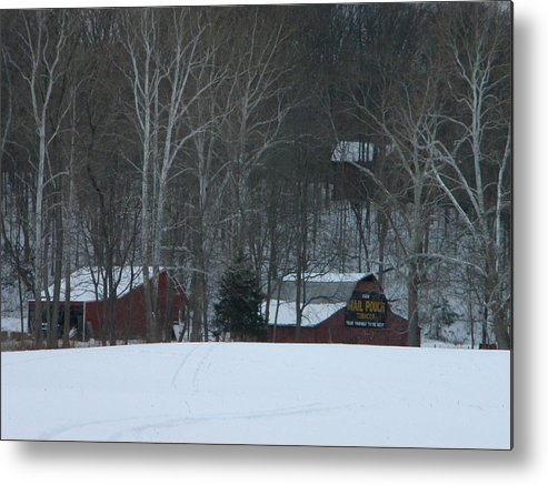Snow Metal Print featuring the photograph Putnam County Farm in Winter by Helen ONeal