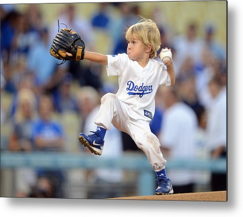 California Metal Print featuring the photograph San Diego Padres v Los Angeles Dodgers by Harry How