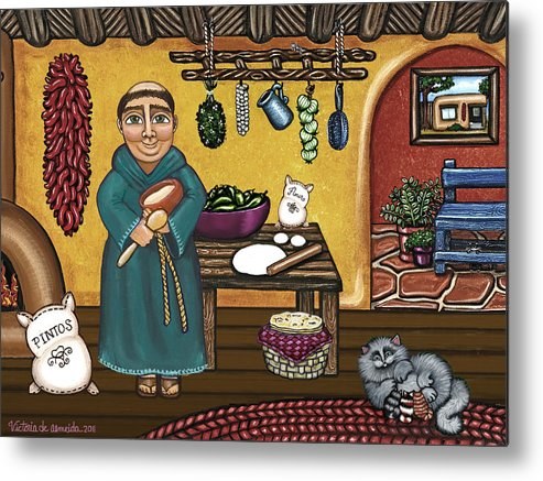 San Pascual Metal Print featuring the painting San Pascuals Kitchen by Victoria Jones