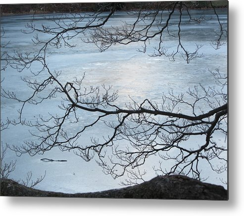 Ice Metal Print featuring the photograph Shimmering Ice by Deborah Flusberg