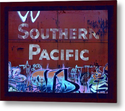 Tag Art Metal Print featuring the photograph Southern Pacific by Donna Blackhall