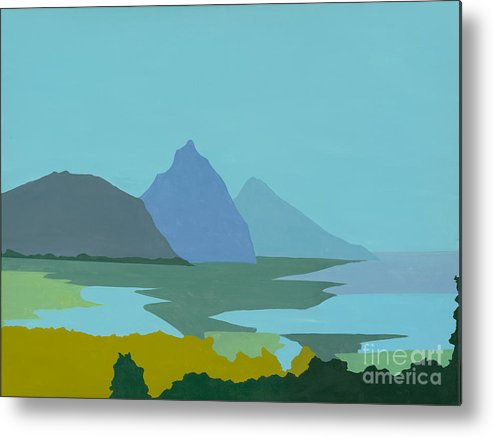 Canvas Prints Metal Print featuring the painting St. Lucia - W. Indies II by Elisabeta Hermann