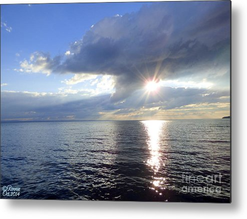 Lake Metal Print featuring the photograph Sunlight Reflections by Rennae Christman