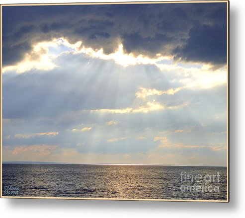 Nature Metal Print featuring the photograph Suns Rays by Rennae Christman