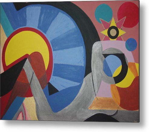 Abstract Metal Print featuring the painting Sweet Dreams are made of these by Dean Stephens