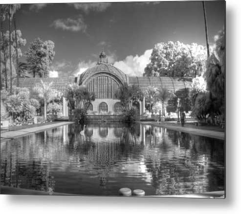 Botanical Building Metal Print featuring the photograph The Botanical Building In Black And White by Jane Linders