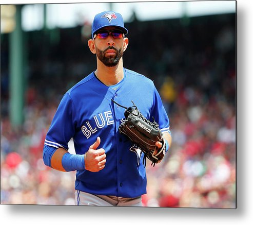 Second Inning Metal Print featuring the photograph Toronto Blue Jays V Boston Red Sox by Winslow Townson