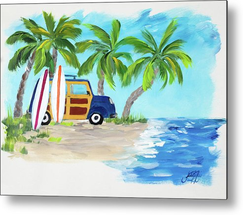 Tropical Metal Print featuring the digital art Tropical Vacation II by Julie Derice